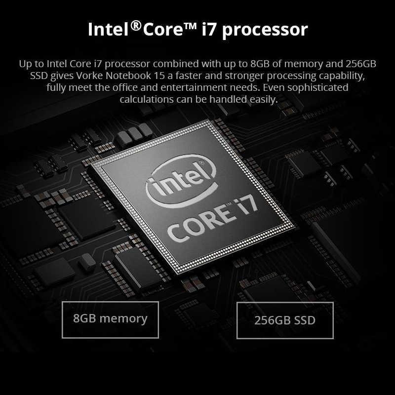 VORKE Notebook 15 Ultrasottile SSD Del Computer Portatile Intel Core i7-4500U i5-8250U 15.6 ''Schermo di 1920*1080 Finestre 10 8GB DDR3 SSD DA 256GB