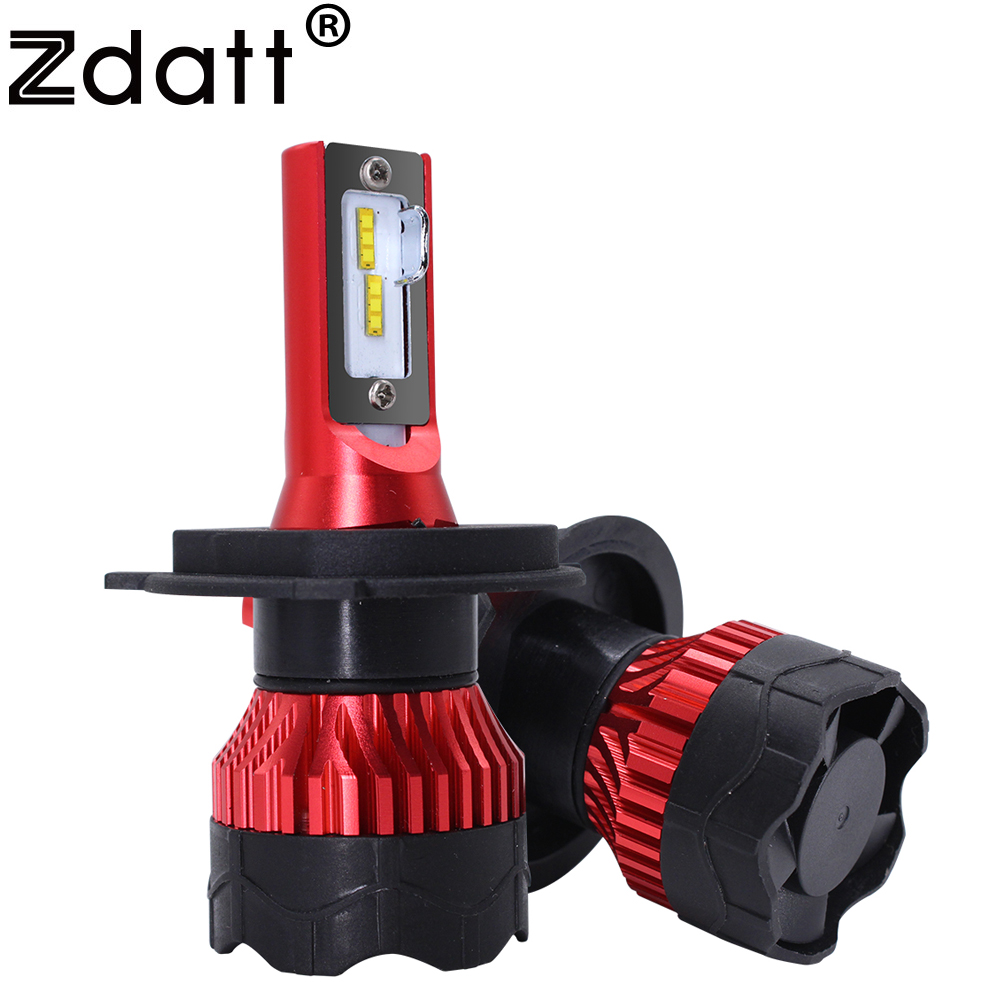 Zdatt H7 <font><b>LED</b></font> Headlights <font><b>H4</b></font> H11 H8 Car Headlight H1 9005 HB3 <font><b>LED</b></font> <font><b>110W</b></font> 12000LM 6000K 12V Ice Lamp PK for Auto S2 <font><b>LED</b></font> automotivo image