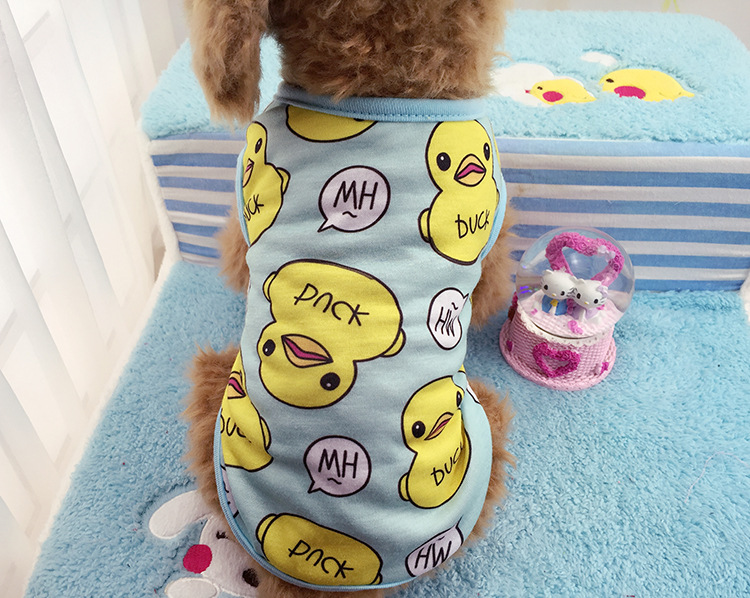 Spring And Summer New Style Dog Pet Cat Clothing Apparel Big Yellow Duck Vest