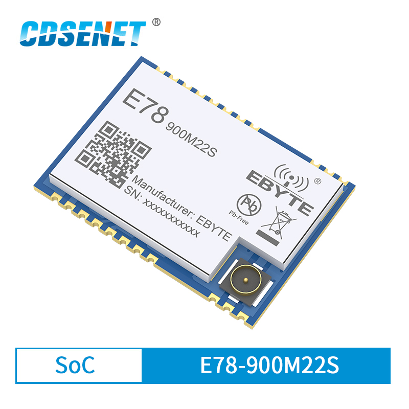 LoRaWAN SoC ASR6501 868MHz 915MHz LoRa Module 22dBm Wireless Transceiver SMD IPEX Stamp Hole Connector TCXO RF Radio