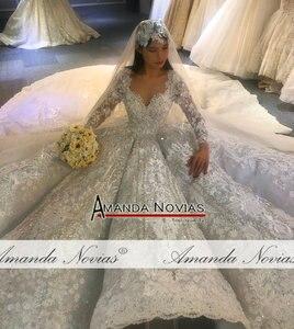 Image 2 - Amanda Novias design real work wedding dress 2020 dubai luxury bridal dress wedding gown 100% real work photos