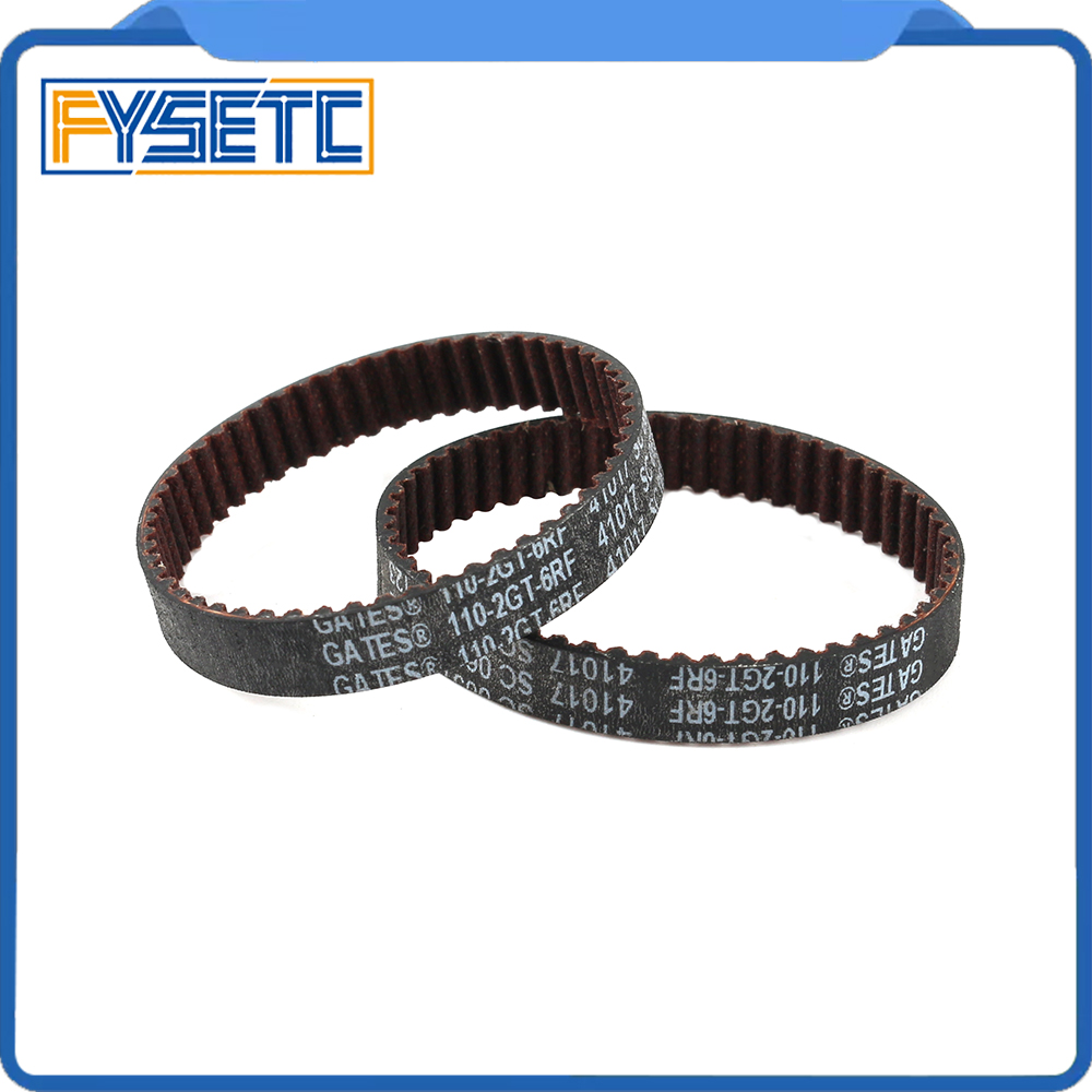 GATES-LL-2GT 3D Printer 2GT Belt Closed Loop Fiberglass Reinforced Rubber GT2 Timing Belt 2GT-6 Length 110mm Width 6mm