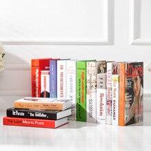 цена на Fake Books Decorations Creative Home Furnishings Light Luxury Hotel Model Room Bed & Breakfast Prop Books