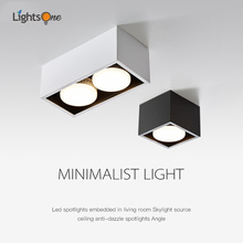 Surface mounted downlight living room no main light box ceiling light double head grille ceiling lamp aisle ceiling spotlight