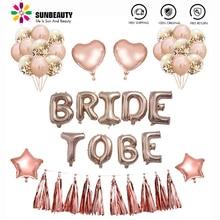 Bruid Om Bachelorette Party Decoratie Folie Ballonnen Bruids Douche Gunsten Bruiloft Bachelorette Vrijgezellenfeest Nacht Decor Supplies