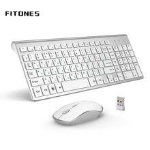 Русская версия 24g Беспроводная клавиатура и мышь эргономика