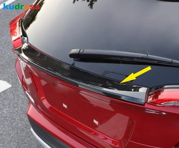 For Toyota CHR C-HR 2016-2018 2019 Carbon Fiber Rear Trunk Lid Spoiler Cover Trim Upper Bumper Protector Sticker Accessories