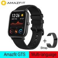 Глобальная версия Amazfit GTS Смарт-часы 5ATM водонепроницаемые плавательные Смарт-часы 14 дней Срок службы батареи управление музыкой для Xiaomi IOS