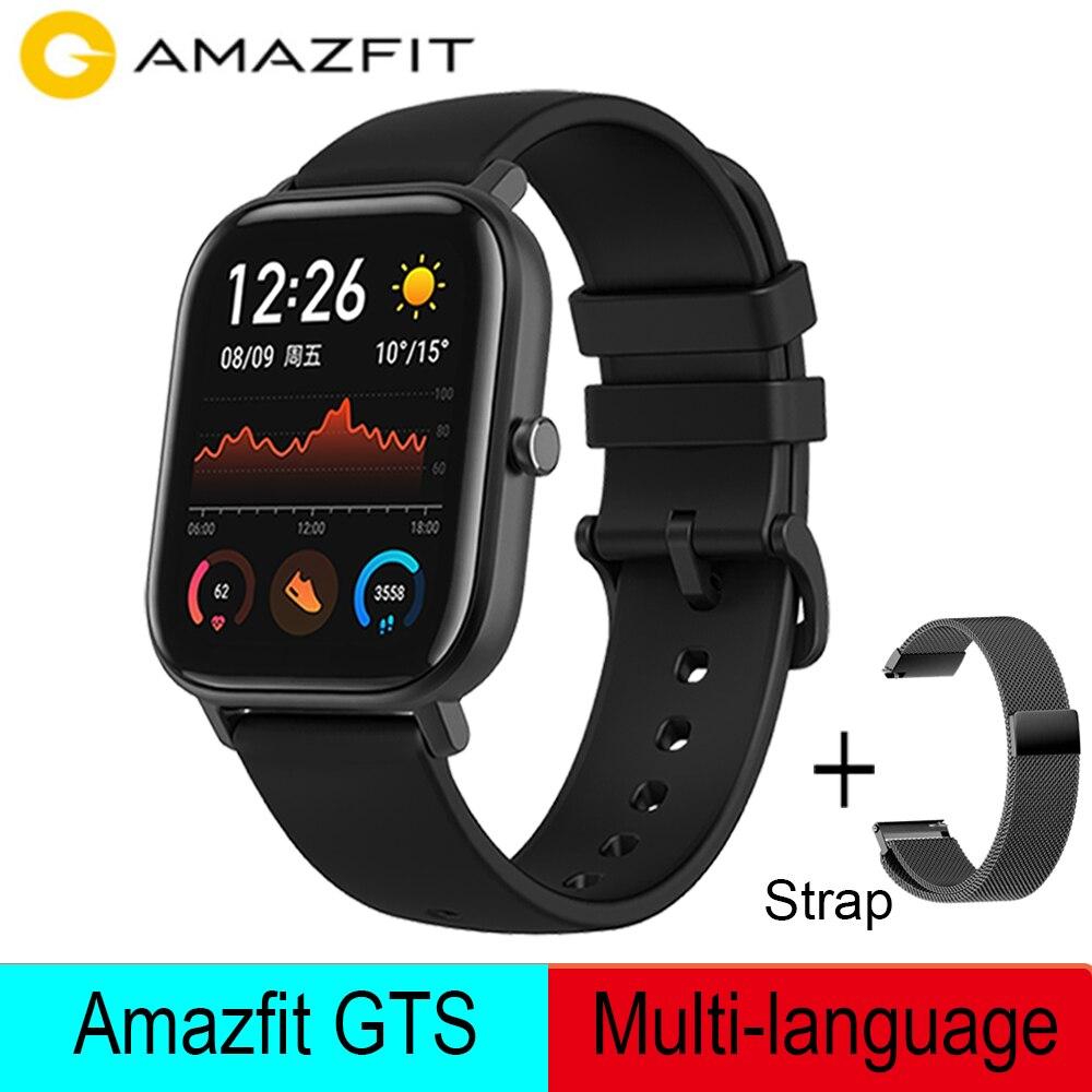 Global Versie Amazfit Gts Smart Horloge 5ATM Waterdichte Zwemmen Smart Horloge 14 Dagen Batterij Leven Music Control Voor Xiaomi Ios
