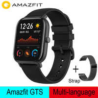 Global Version Amazfit GTS Smart Watch 5ATM Waterproof Swimming Smart Watch 14 Days Battery Life Music Control for Xiaomi IOS