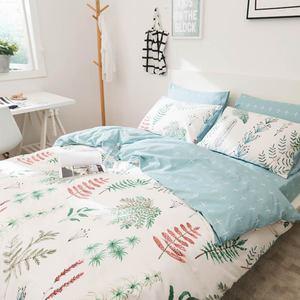 Image 2 - Svetanya yapraklar baskı yastık kılıfı ve nevresim takımı pamuk çarşaflar e n e n e n e n e n e n e n e n e n e çift kraliçe çift kişilik yatak seti