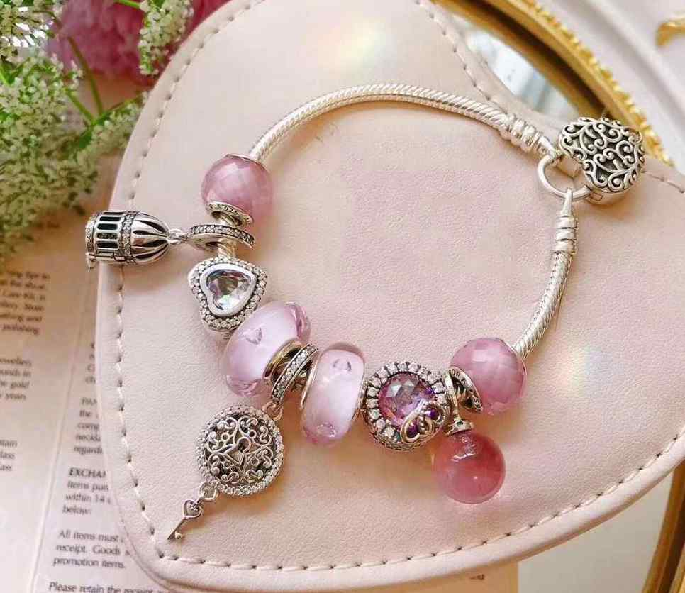 Quality Original 1:1 100%925 Sterling Silver Heart Bracelet Free Shipping