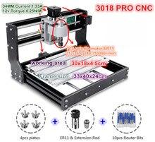 3 achsen DIY 3018 Pro CNC GRBL Control Mini Maschine Pcb Pvc Laser Gravur Fräsen Maschine Holz Router