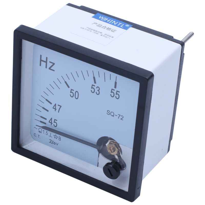 45-55Hz 220V Analoge Panel Frequency Meter Hertz Indicator voor Systeem Monitoring