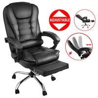 Stahl verschleiß-beständig büro stuhl computer stuhl abnehmbare high zurück leder executive mit hocker