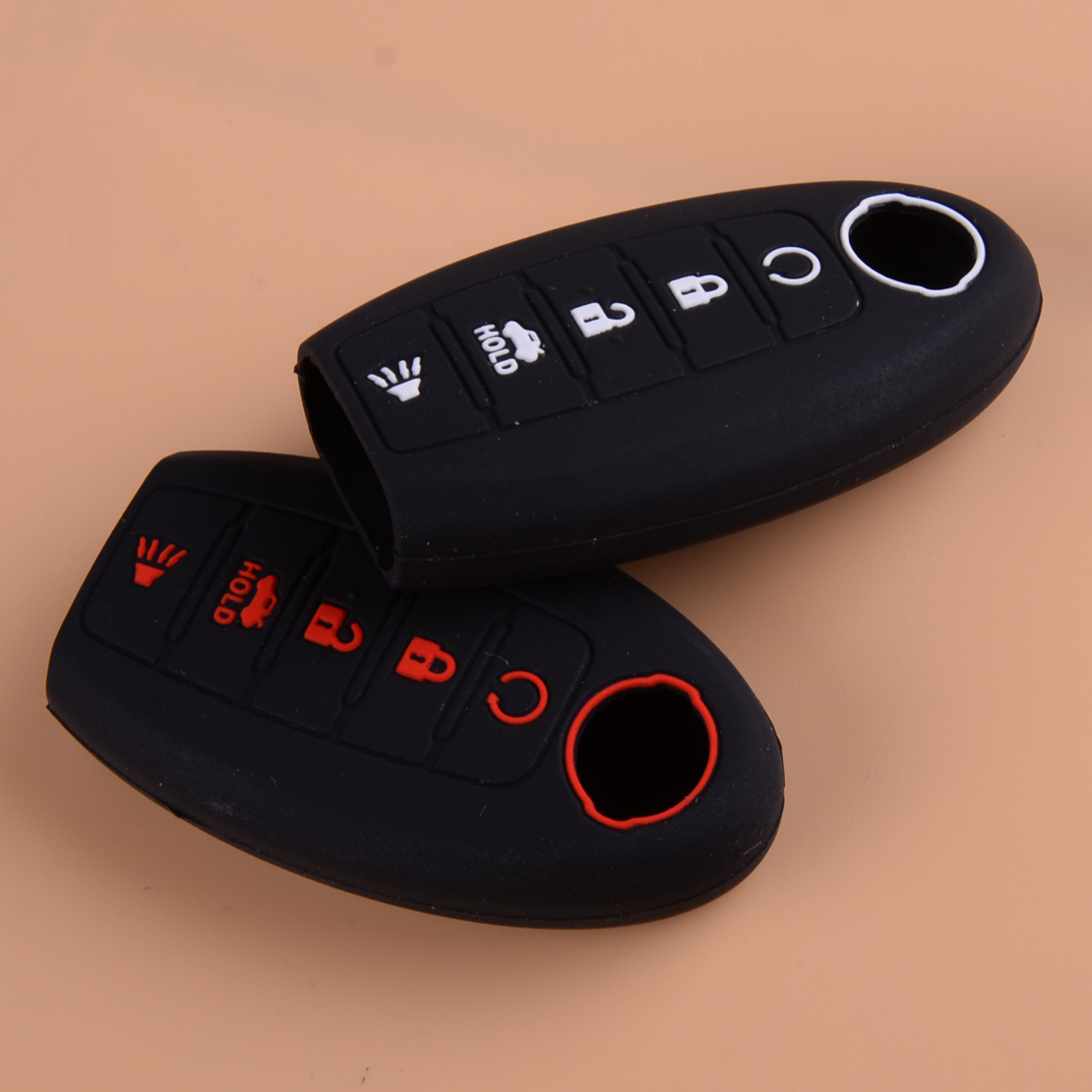 beler 3 Buttons Silicone Remote Key Button Pad Protector
