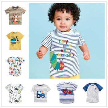 VIDMID chłopcy cartoon koparka koszulki koszulki dziecięce bawełniane koszulki z krótkim rękawem odzież topy dzieci odzież codzienna koszulki tees tanie i dobre opinie COTTON Na co dzień REGULAR O-neck Pasuje prawda na wymiar weź swój normalny rozmiar 2-7T