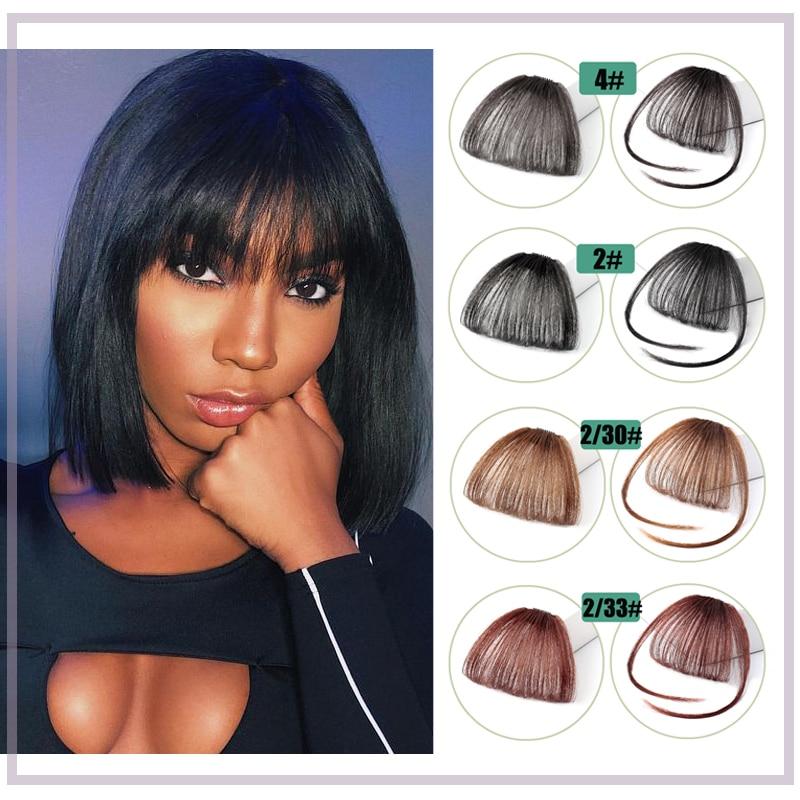 Synthetic Fake Bang Hair Piece Clip In Hair Extension Fake Fringes Bang Women Natural Air Bangs Clip on Bangs 24 Colors 45