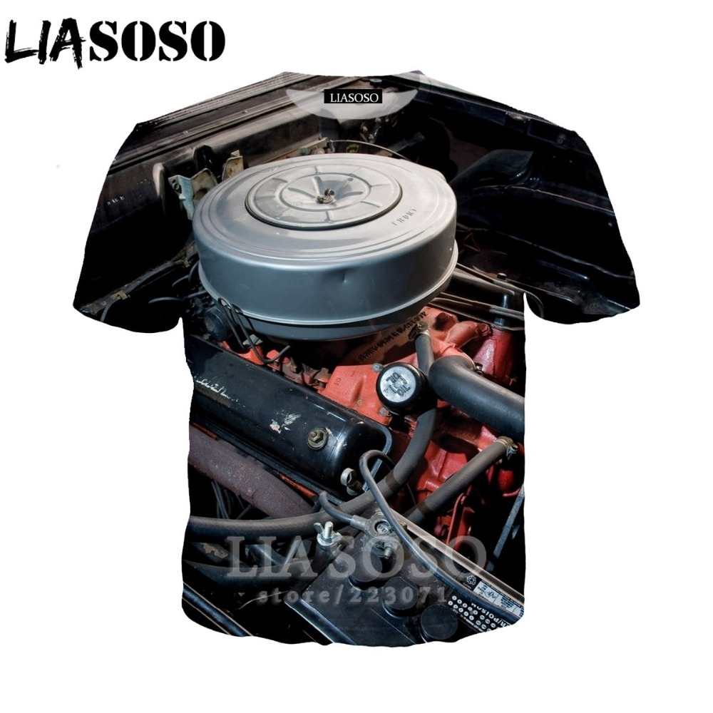 LIASOSO Women Sweatshirt 3D Print Engine T Shirt Car Parts Men`s T-shirts Machinery Men Cartoon Tshirt Harajuku Beach Tees D013-2 (5)