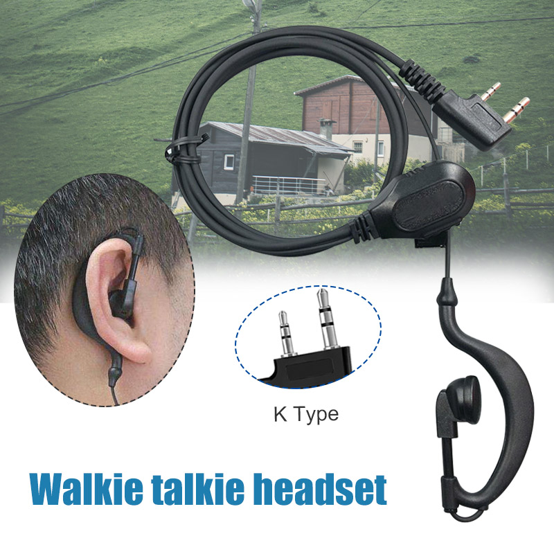 Resistance To Pull Nylon Rope Walkie Talkie Earphone With Mic Universal K-Type