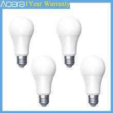 1-4 pces aqara inteligente lâmpada led zigbee 9w e27 2700k-6500k cor branca inteligente remoto lâmpada led para xiaomi mi casa mihome homekit