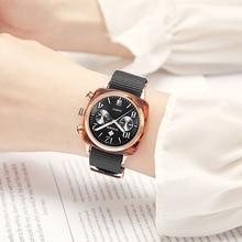 Top Luxe Merk WWOOR Nieuwe Lady Nylon horloge drie eye fashion horloge fabriek waterdicht Quartz vrouwelijke horloges vrouwen montre homme