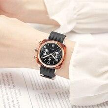 탑 럭셔리 브랜드 wwoor 신사 숙녀 나일론 시계 three eye 패션 시계 공장 방수 석영 여성 시계 여성 montre homme