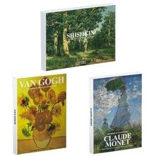 Art-Painting Postcards Van Gogh Monet Shishkin Claude Post-Impressionism-Oil Ivan Sunflowers