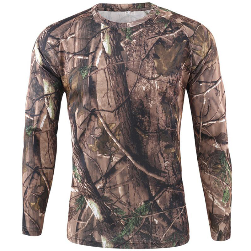 Camouflage T Shirt Men Breathable Quick Dry Long Sleeve T shirt Mens Outdoor Sports Army Combat Tactical Military Camo Tshirts|T-Shirts| - AliExpress