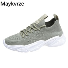 2020 new women shoes wild flying woven lace-up sneakers women's breathable tide casual shoes new flying woven mesh breathable women s shoes casual wild lace mesh women s sneakers shoes fashion lightweight casual shoes