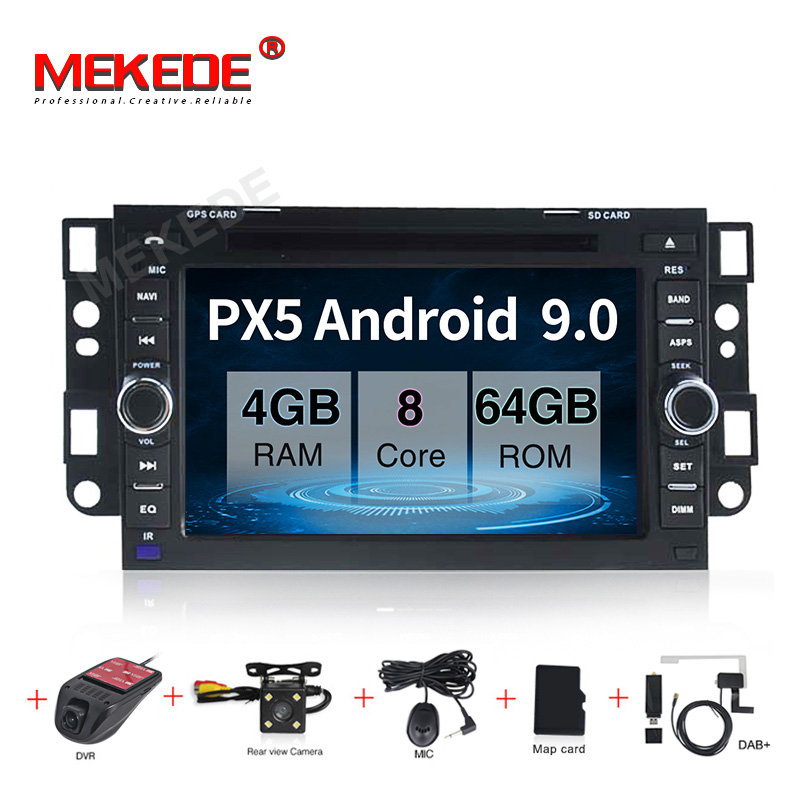 PX5 Android 9.0 <font><b>Car</b></font> DVD Player <font><b>For</b></font> <font><b>Chevrolet</b></font> Captiva <font><b>Aveo</b></font> Epica Spark Optra Tosca Kalos Matiz Lova GPS <font><b>Radio</b></font> Navigation Screen image