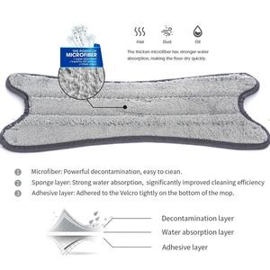 Image 5 - Mop a mano libera lavaggio a pavimento piatto facile da strizzare cuscinetto di ricambio in microfibra per cucina domestica Kit di Mop bagnato e asciutto laminato in legno duro