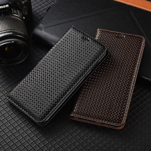 Luxury Genuine Leather Magnetic Flip Case For Samsung Galaxy S6 S7 edge S8 S9 S10 S20 FE S21 Plus Note 5 8 9 10 20 Ultra Pro