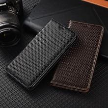 Luxury Genuine Leather Magnetic Flip Cover Case For Huawei P9 P10 P20 P30 P40 Plus Pro Lite E