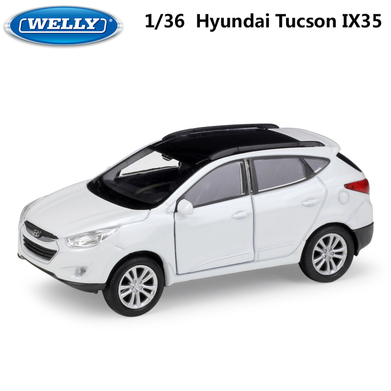 WELLY Diecast 1:36 Scale Model Car Hyundai Tucson IX35 SUV Pull Back Toy Vehicle Alloy Toy Metal Toy Car For Kid Gift Collection