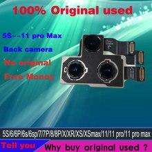 オリジナルiphone 11プロマックスxr xs最大iphone 5s 6 6s 8 6SP 7プラスメイン大バックカメラモジュールフレックスケーブル