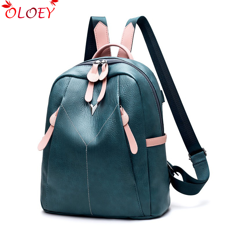 2019 New Backpack Fashion Wild High Quality Brand Luxury Ladies Backpack Youth Girl Leisure Travel Bag Large Capacity 4 Colors
