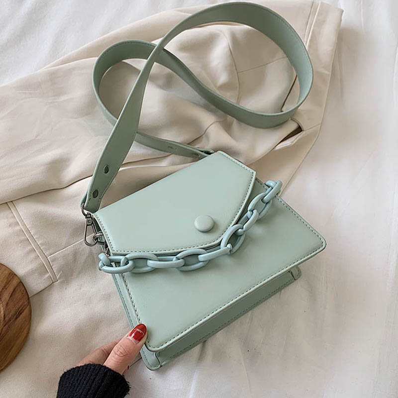 Thick Chain Design Small PU Leather Crossbody Bags For Women 2020 Female Shoulder Messenger Bag Ladies Handbags|Top-Handle Bags|   - AliExpress