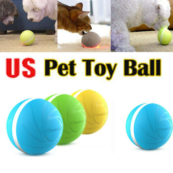 Pet Dog Toys Wicked Ball New Design Pet Dog Cat Toy RGB LED Lights Interactive Toy Electric Companion