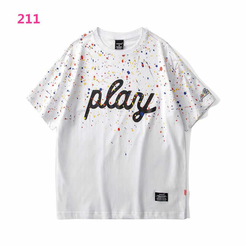 Pornhub 스타일 남성 T 셔츠 2020 여름 새로운 짧은 소매 인쇄 T 셔츠 품질 인과 남성 Tshirts Camisetas Hombre Manga Corta