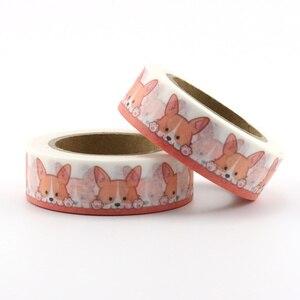 Image 4 - 22 najlepiej sprzedające się słoń, koty, lis, ptaki, króliki, jednorożec taśma Washi doskonała jakość Cute Animal Washi taśma maskująca 15mm * 10m
