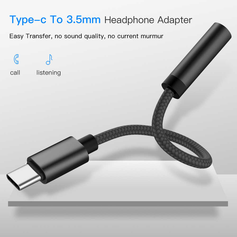 Usb Type C To 3.5mm Jack TypeC Audio Splitter Headphone Cable Earphone Aux 3.5 Adapter Charger Usb-c For Xiaomi Mi6 Mix2 Huawei
