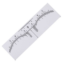 10pcs Disposable Eyebrow Ruler Sticker Shaping Tools Makeup Measurement Stencil Drawing Template