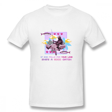 If She Falls For Your Line Shes A Good Catch t shirt men Casual Fashion Mens Basic Short Sleeve T-Shirt t-shirt top tees