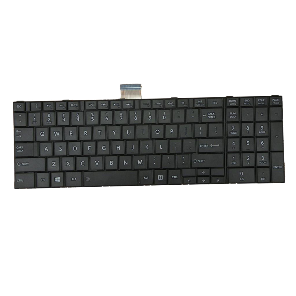 NEW LAPTOP KEYBOARD FOR TOSHIBA SATELLITE C850 US LAYOUT BLACK COLOR image