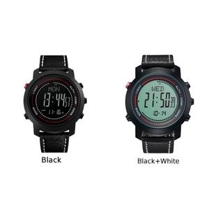 Image 4 - MG01 Outdoor Sport Smart Watchwristwatches Kompas Hoogtemeter Barometer Lederen Band Fashion Outdoor Horloges Klok Relogio
