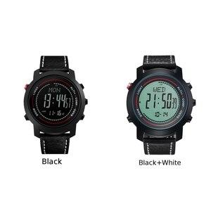 Image 4 - MG01 açık spor akıllı WatchWristwatches pusula altimetre barometre deri bant moda açık saatler saat Relogio