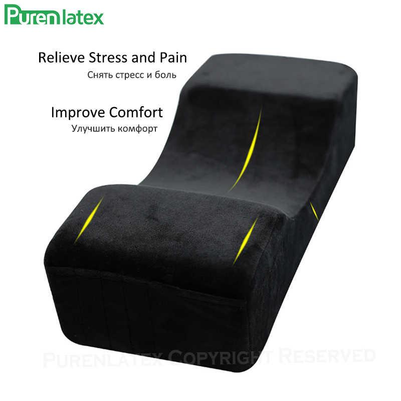 PurenLatex aşılı kirpik uzatma yastık bellek köpük flanel yastıklar U şekli makyaj kafalık boyun desteği güzellik salonu için