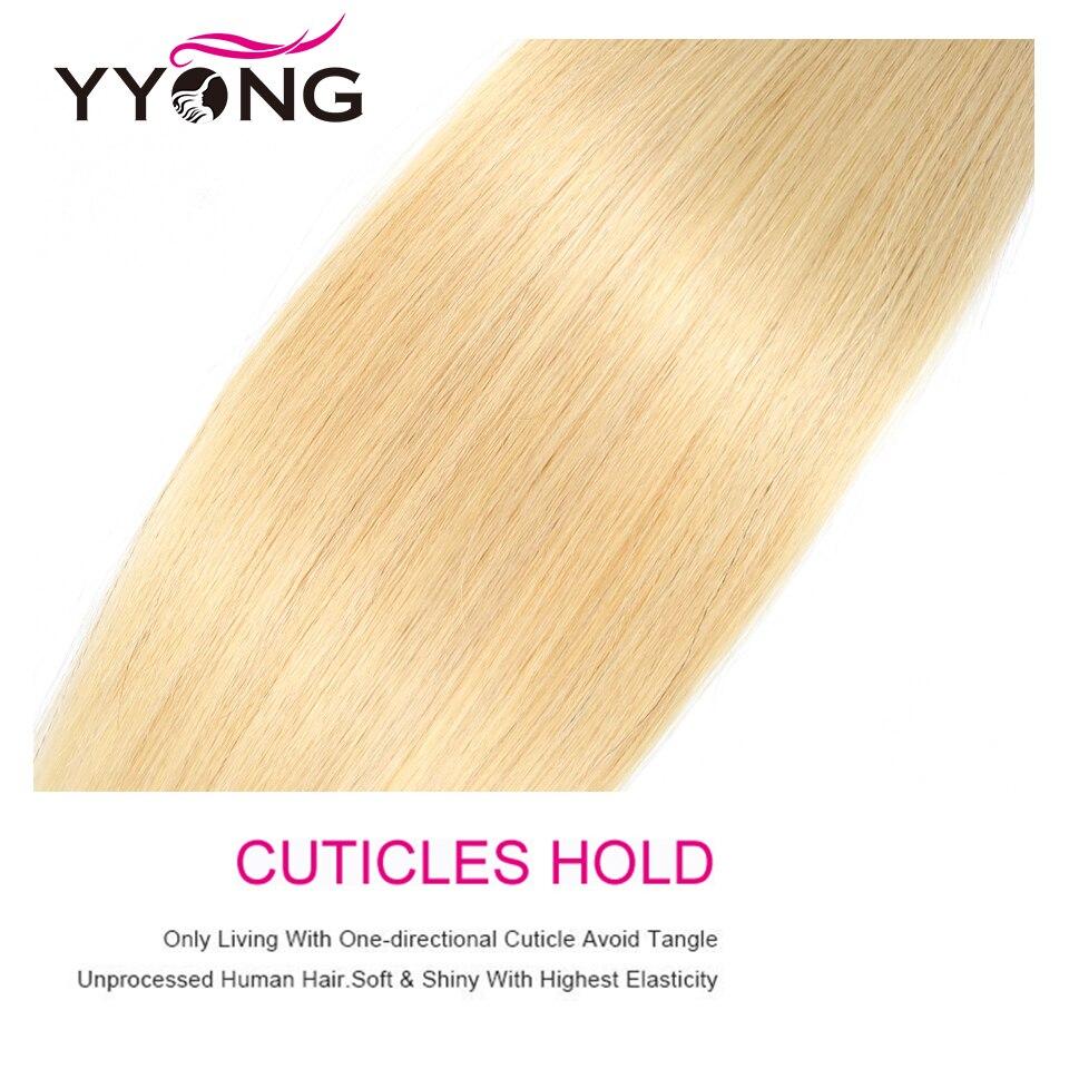YYong  Striaght 613 Blonde Bundles 1/3/4 Bundles 100g Honey Blond Hair   Blond  Bundles 12-24 Inch 5