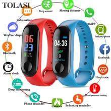 цена 2019 Smart Watch Sport Bracelet Wristband Blood Pressure Heart Rate Monitor Pedometer Smart Watch men For Android iOS Smartwatch онлайн в 2017 году
